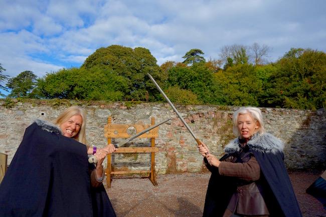 Sword fight on Winterfell tour