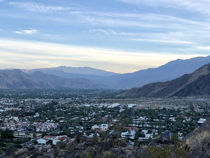 View of Palm Springs California from Museum Trail