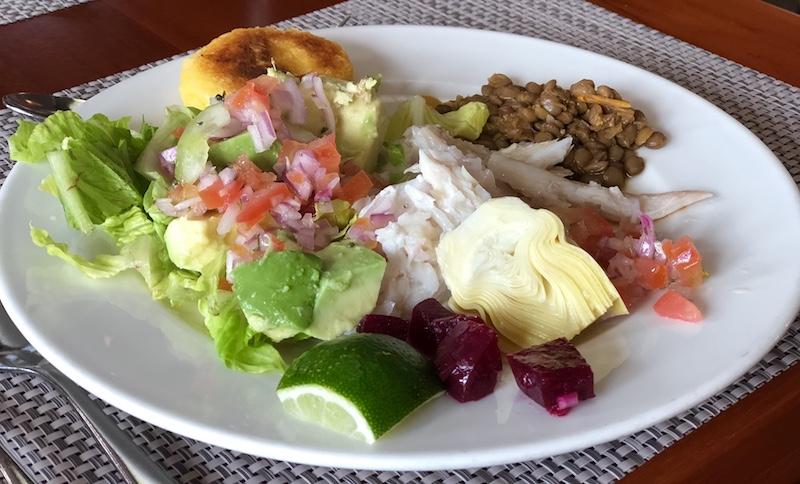 Food on Santa Cruz II Galapagos cruise review