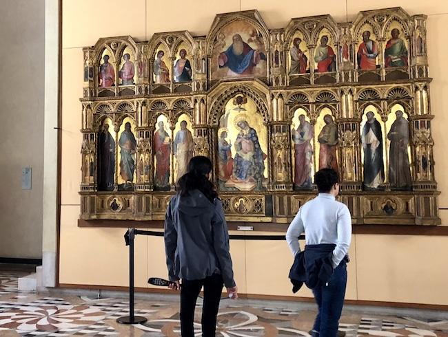 Venice when it rains, visit the Accademia