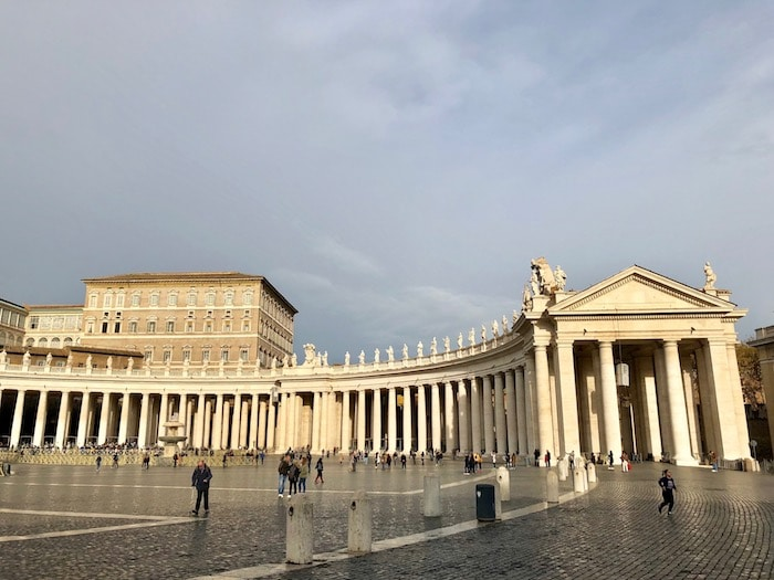 Bernini Colonnade in St Peter's Square at the Vatican in Rome