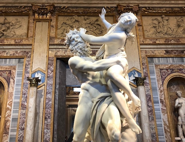 The Rape of Persephone, a statue by Bernini. in the Borghese Gallery in Romejpg