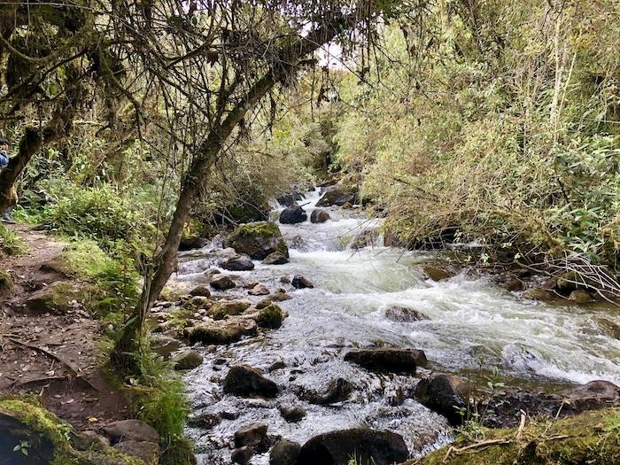 Hiking at Papallacta along the Loreto-Papallacta River
