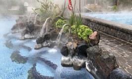 Papallacta Spa Ecuador pools with waterfall jets