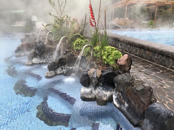 Papallacta Spa Ecuador pools with waterfall jets