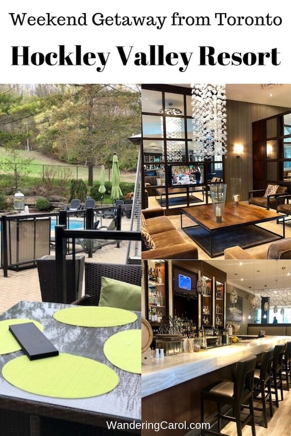 Collage of photos of Hockley Valley Resort in Ontario