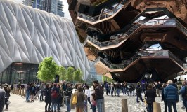 The Vessel and the Shed in Chelsea and the Hudson Yards, NYC