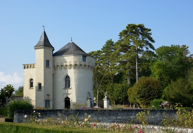 French holiday rentals at a white stone Loire Valley chateau