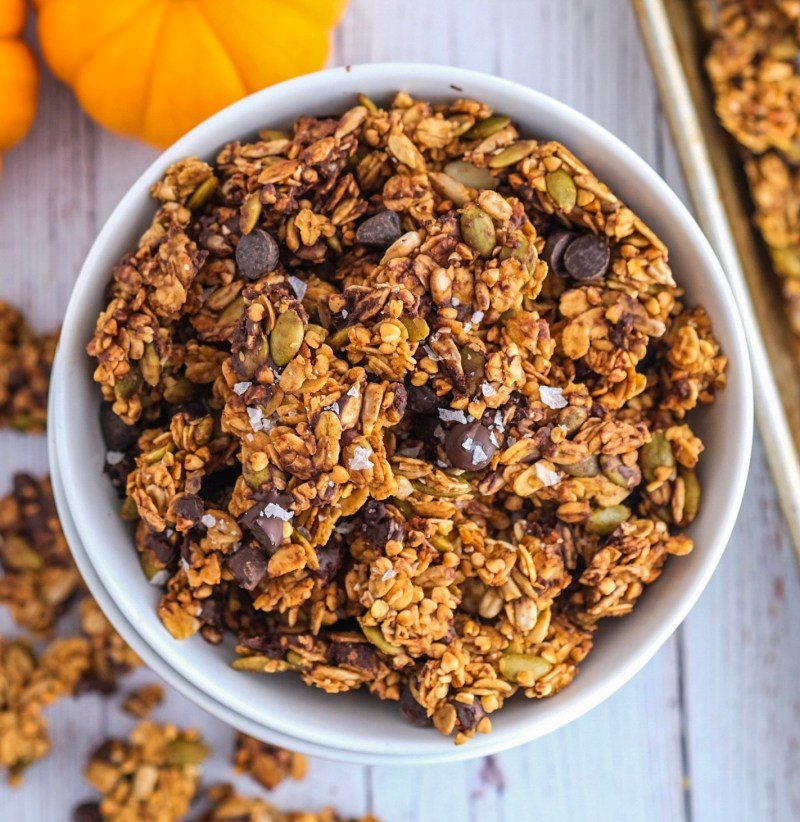 Vegan nut free dark chocolate granola recipe healthy