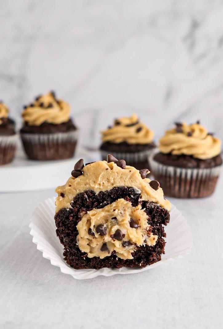 vegan cookie dough filled cupcake recipe