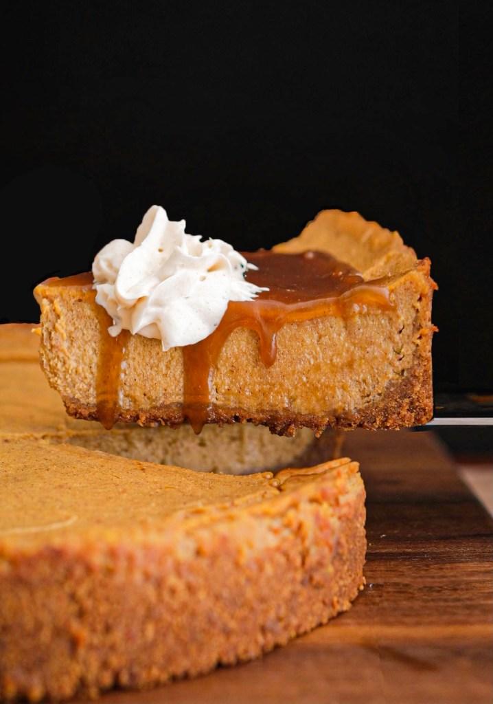 Vegan pumpkin tofu cheesecake recipe thanksgiving