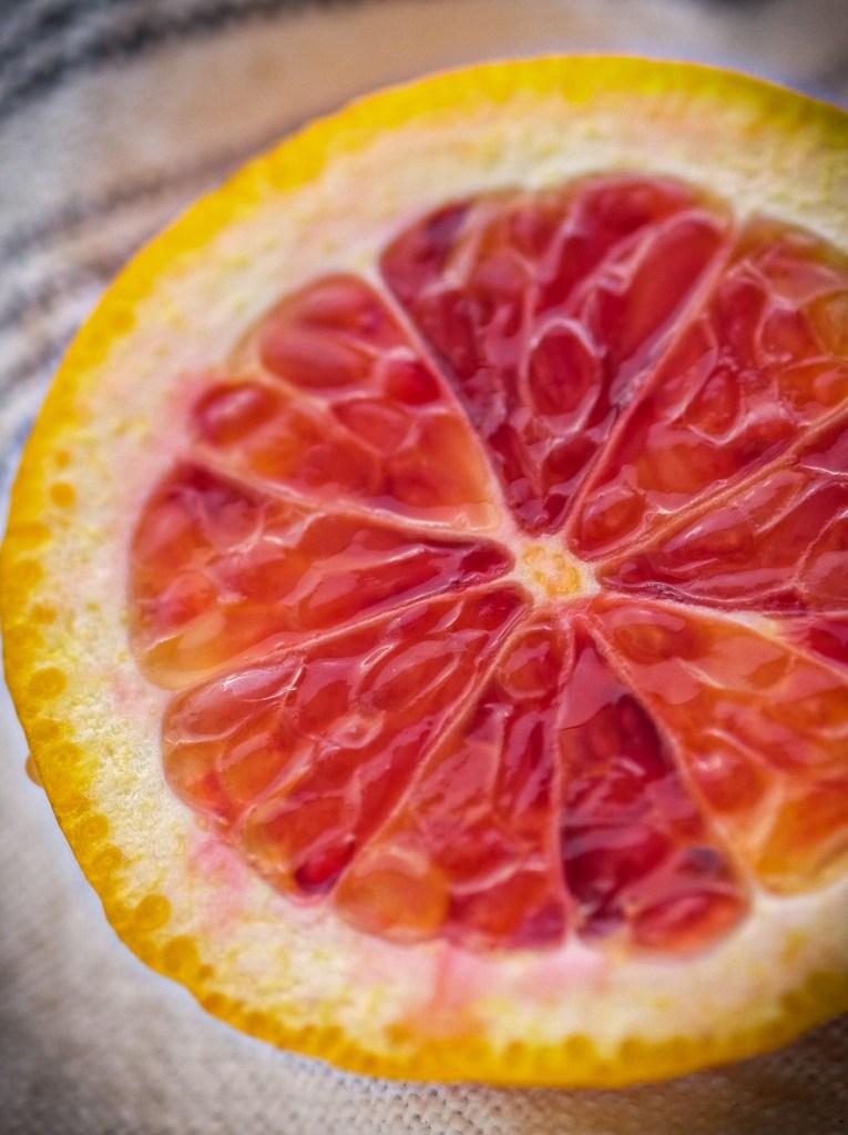 Macro Photography orange slice