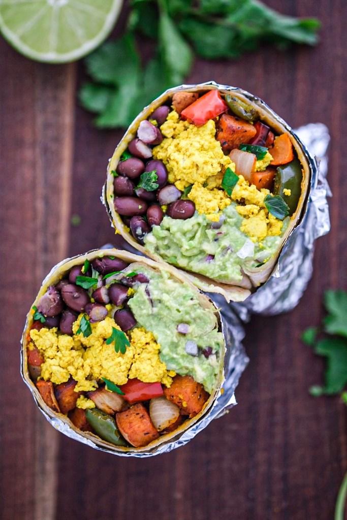 Vegan sweet potato breakfast burrito recipe
