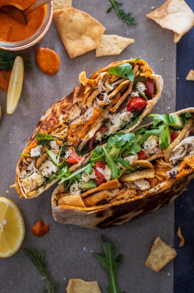 Greek Crunchwrap Supreme