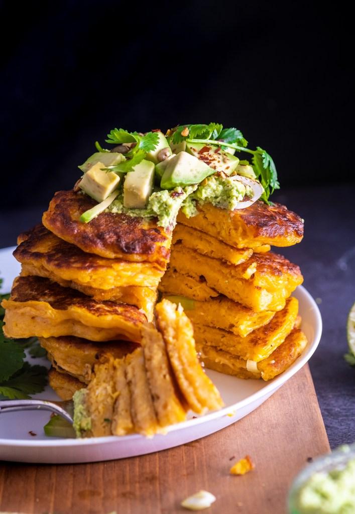Savory sweet potato scallion pancakes