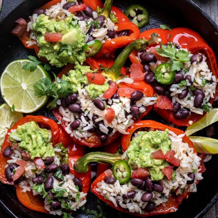 Black bean stuffed peppers