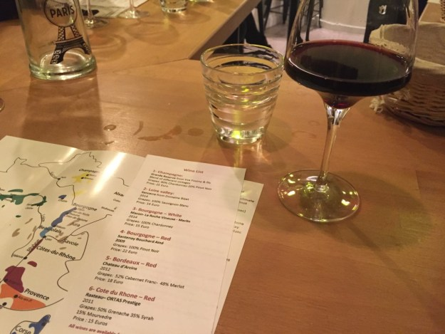 wine tasting in Paris food and culinary tour
