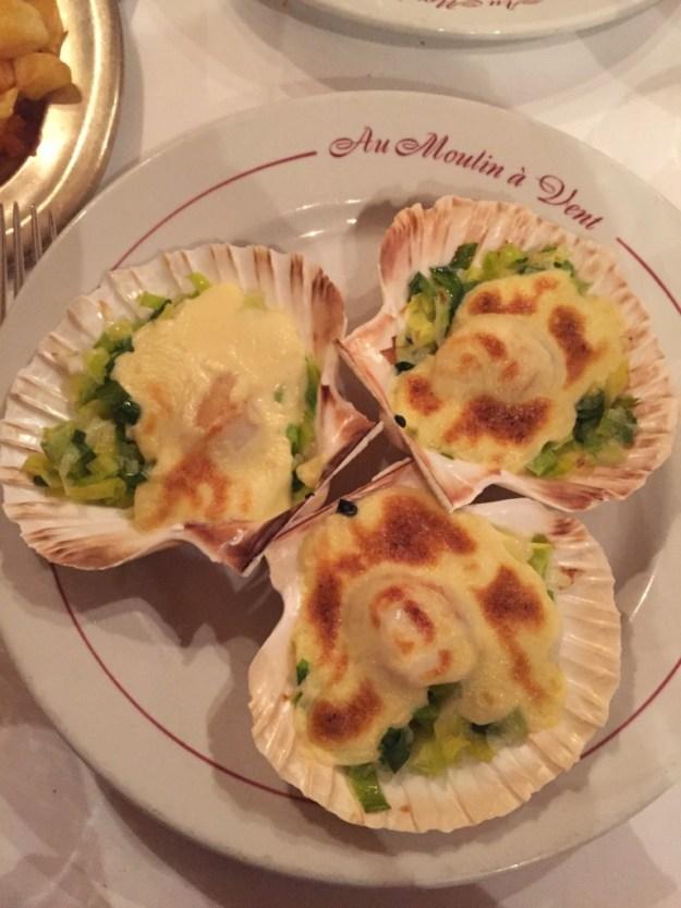 dinner in Paris France at Au Moulin A Vent food walking tour of Paris