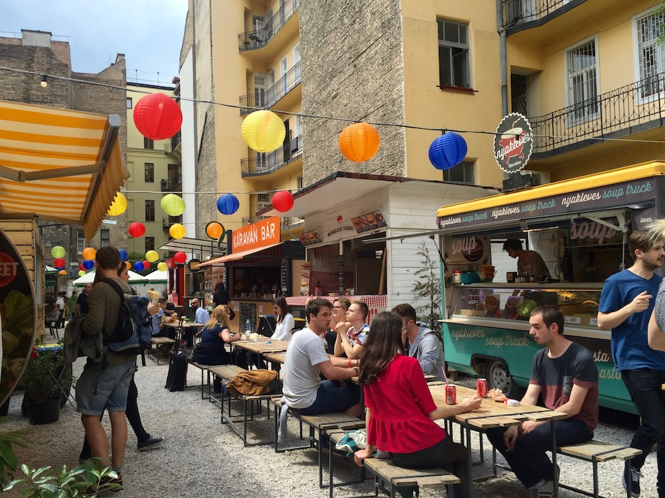 Karavan Street Food Alley in District VII Budapest