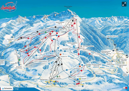 Sudelfeld Bayrischzell ski and snowboard ski map