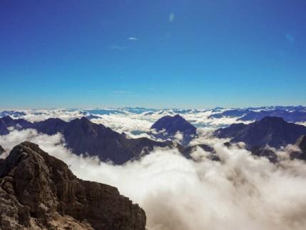 Zugspitze Mountain Peak from Munich