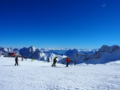 Skiing at Zugspitze glacier
