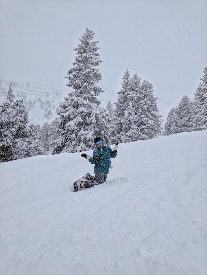 Snowboarding and Skiing Garmisch German Alps