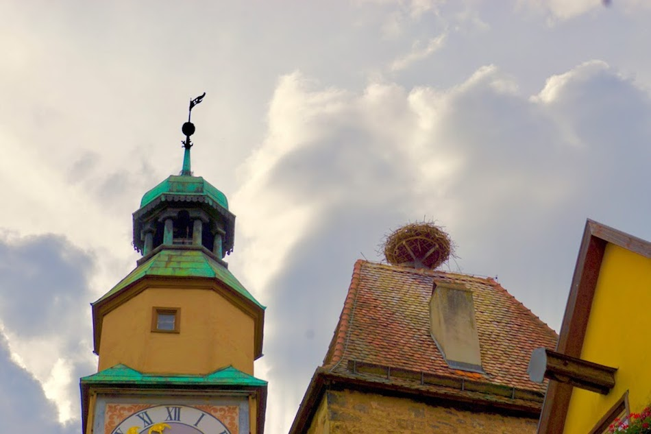 Stork nest in Rothenburg ob der Tauber Wandering Chocobo