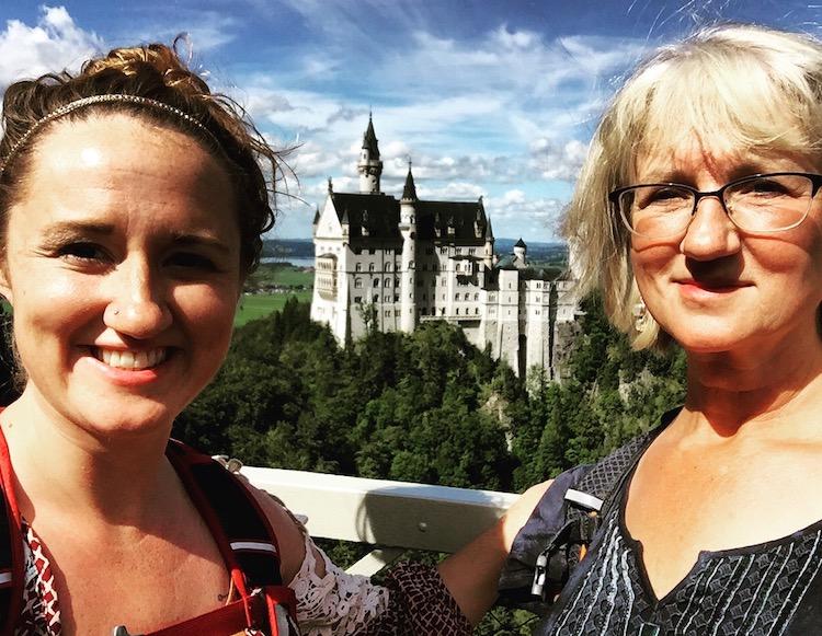 Mom daughter travel Neuschwanstein