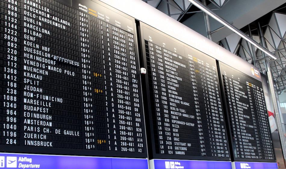 International departure board Wandering Chocobo
