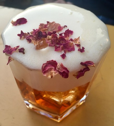 Rose Petal cocktail at Flushing Meadows Munich's best cocktail bar.