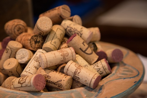 Wine corks. The best places to drink wine in Munich, Germany.