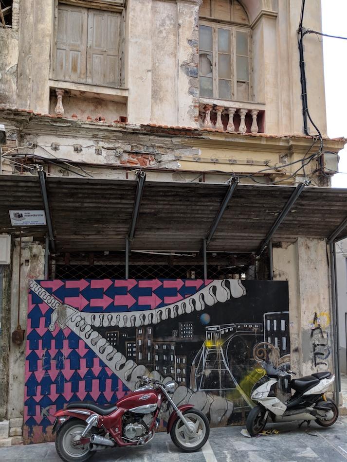 Old buildings in Vathy, Samos. Volunteering in a refugee camp.