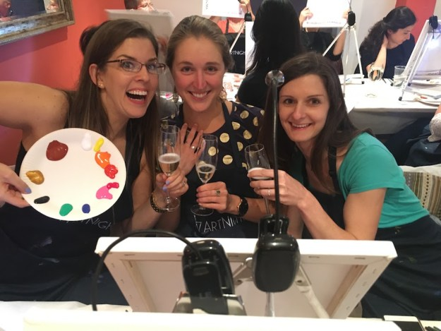Things to do in Munich in the winter, Art night with paint and wine.