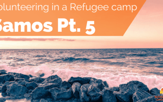 Karlovasi Beach Samos, Greece. Volunteering in a refugee camp in Europe. Refugee Crisis