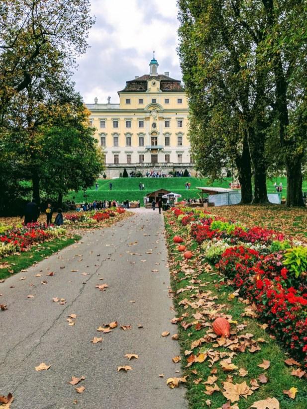 Ludwigsburg Schlossgarten castle and garden in Germany Location of the world's largest pumpkin festival.