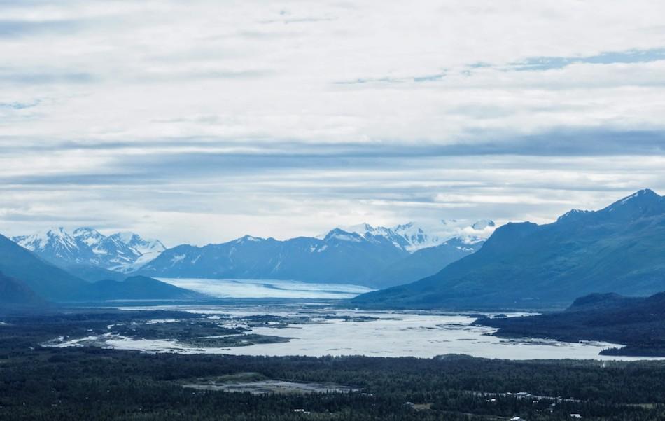 Butte Hike Knik Glacier Views Alaska