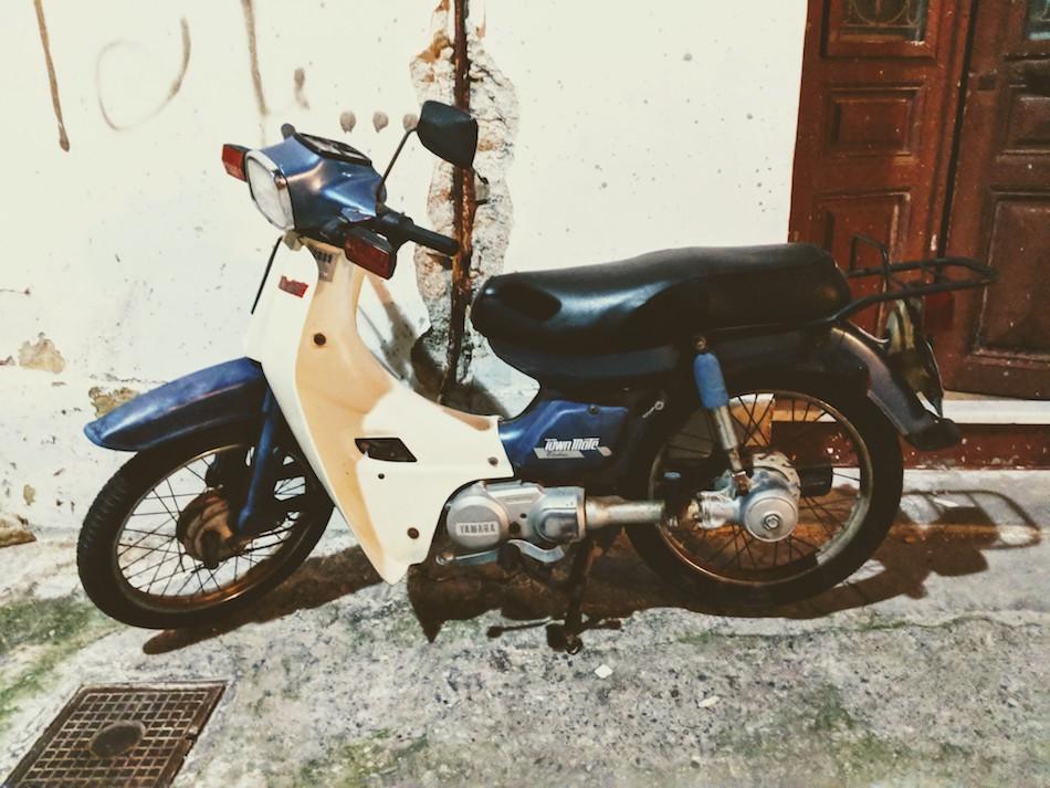 samos greece scooter