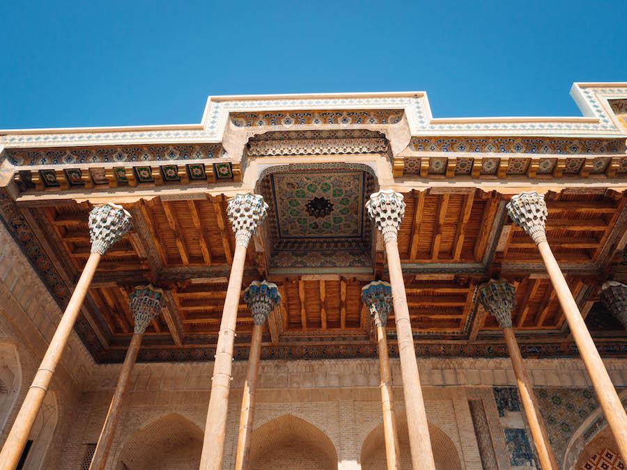 Bolo Hauz Mosque Bukhara Uzbekistan