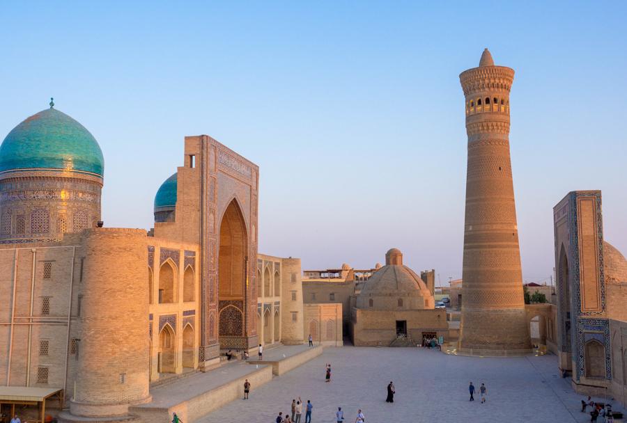 kalon square sunset Bukhara
