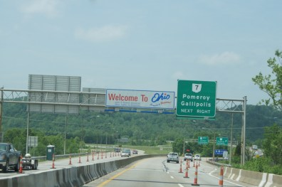 We crossed the Ohio River to enter Ohio