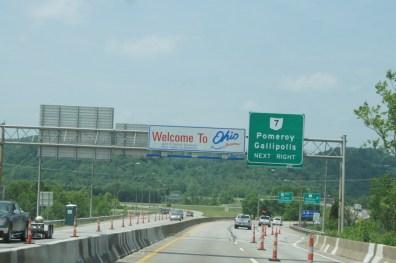 We crossed the Ohio River to enter Ohio