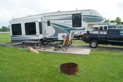 Our home for the night at Sun Valley Campground