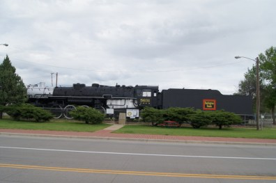 Train on Display in Sheridan, WY
