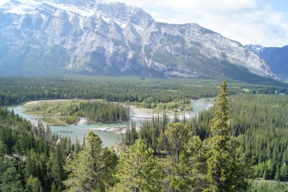 Our view as we walked along the Hoodoos Trail