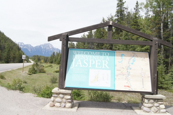 At the end of the drive we arrived in Jasper, Alberta