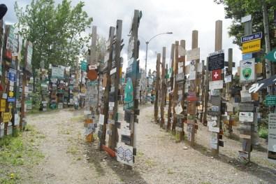 Signpost Forest in Watson Lake, Yukon