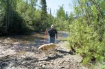 Bonanza Creek where gold was first discovered