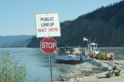 Loading the Ferry to cross the Yukon River