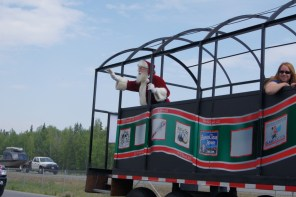 Of course Santa will be in the North Pole 4th of July Parade
